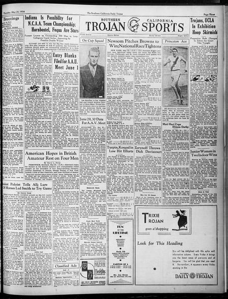 Daily Trojan, Vol. 25, No. 142, May 24, 1934