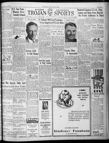Daily Trojan, Vol. 25, No. 144, May 28, 1934