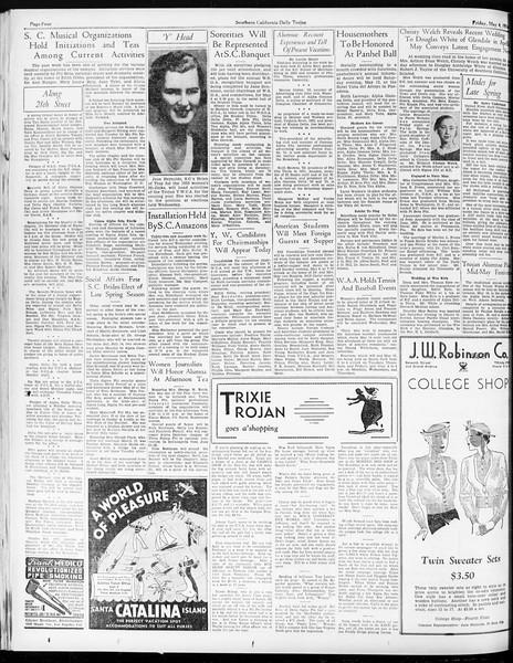Daily Trojan, Vol. 25, No. 128, May 04, 1934
