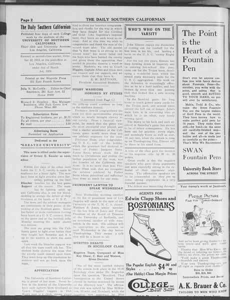 The Daily Southern Californian, Vol. 3, No. 44, November 26, 1913