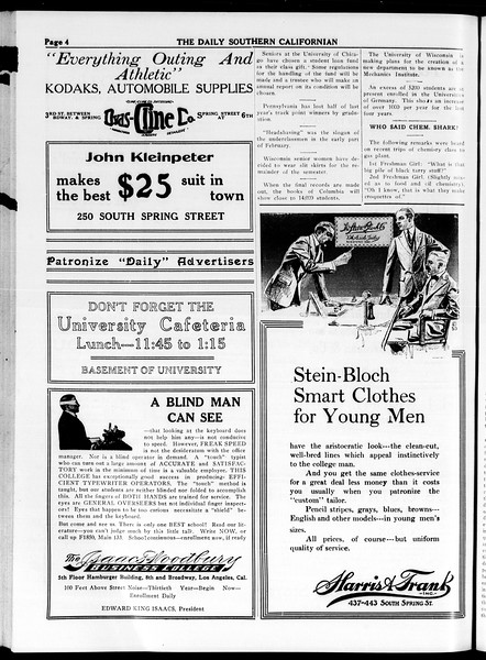 The Daily Southern Californian, Vol. 4, No. 19, March 12, 1914
