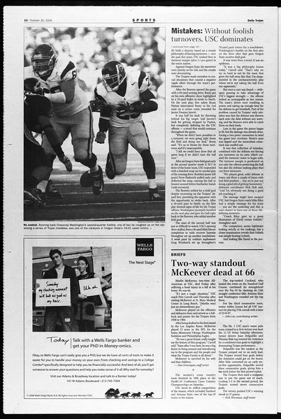 Daily Trojan, Vol. 159, No. 49, October 30, 2006