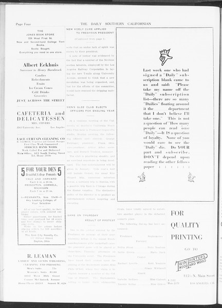 The Daily Southern Californian, Vol. 5, No. 32, November 11, 1914