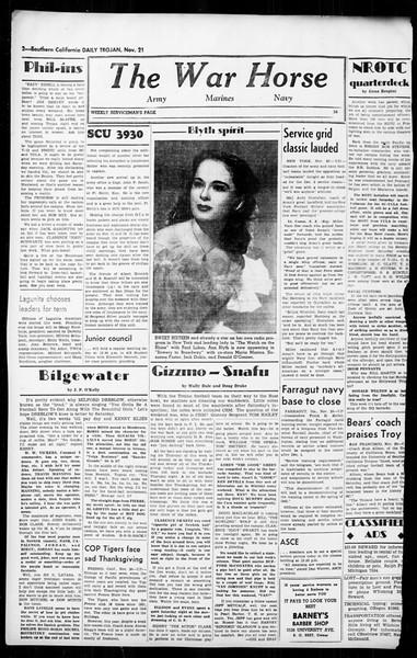 Daily Trojan, Vol. 36, No. 11, November 21, 1944