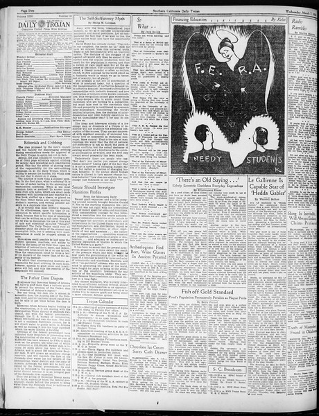 Daily Trojan, Vol. 25, No. 91, March 07, 1934
