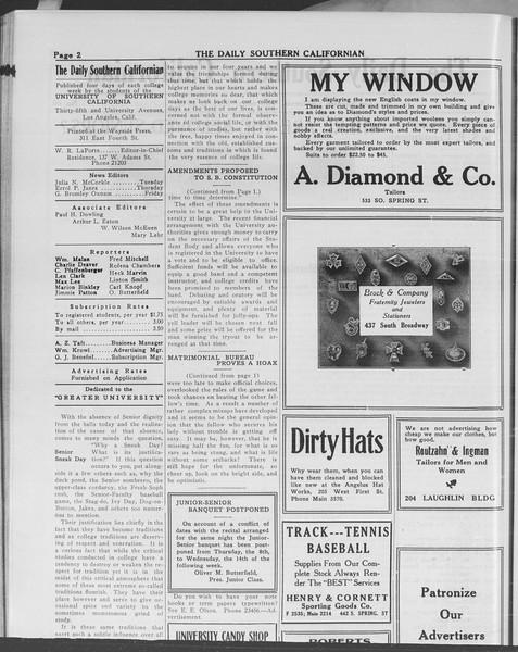 The Daily Southern Californian, Vol. 10, No. 40, May 01, 1913