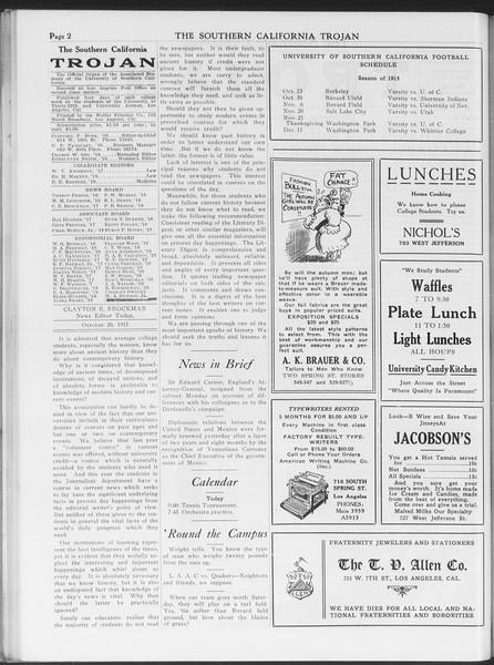 The Southern California Trojan, Vol. 7, No. 20, October 20, 1915