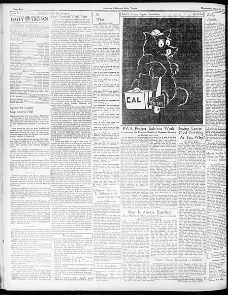 Daily Trojan, Vol. 25, No. 101, March 21, 1934
