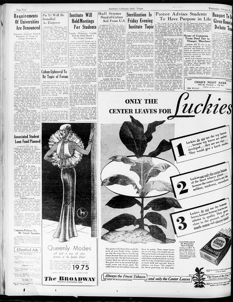 Daily Trojan, Vol. 25, No. 86, February 28, 1934