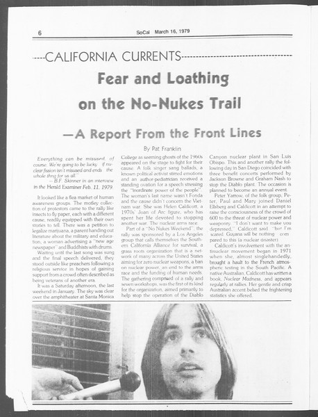 SoCal, Vol. 76, No. 21, March 12, 1979