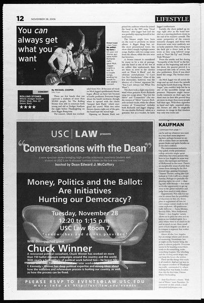 Daily Trojan, Vol. 159, No. 65, November 28, 2006