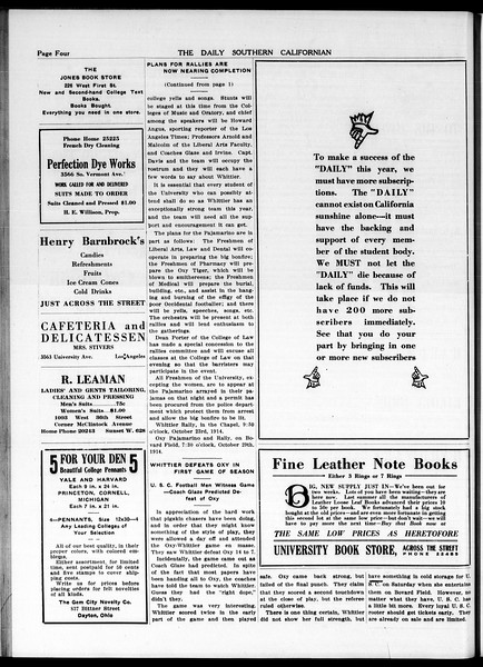The Daily Southern Californian, Vol. 5, No. 20, October 20, 1914