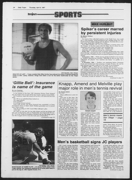 Daily Trojan, Vol. 103, No. 55, April 09, 1987