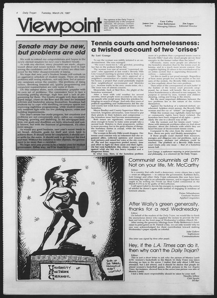 Daily Trojan, Vol. 103, No. 49, March 24, 1987