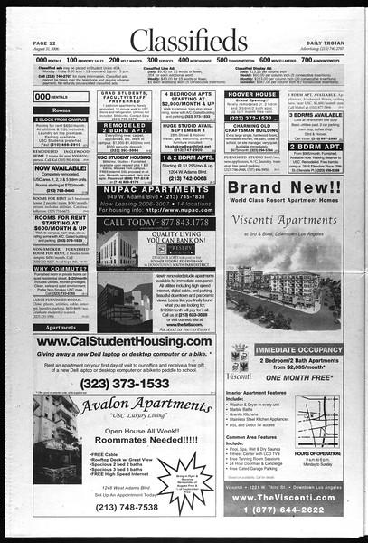 Daily Trojan, Vol. 159, No. 9, August 31, 2006