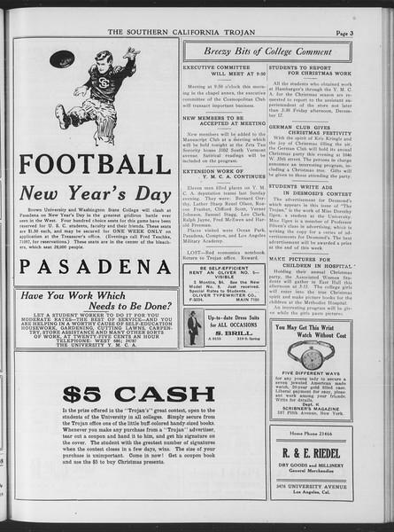 The Southern California Trojan, Vol. 7, No. 51, December 16, 1915