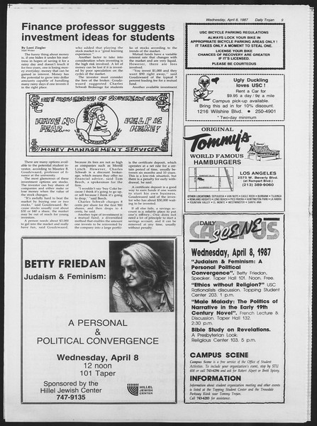 Daily Trojan, Vol. 103, No. 54, April 08, 1987