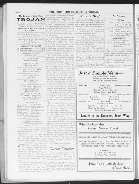 The Southern California Trojan, Vol. 7, No. 11, October 05, 1915