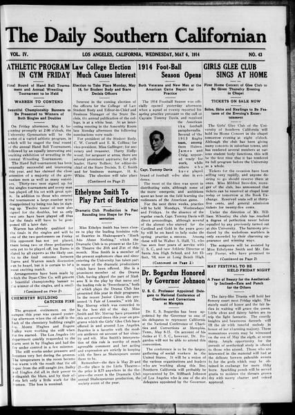 The Daily Southern Californian, Vol. 4, No. 43, May 06, 1914