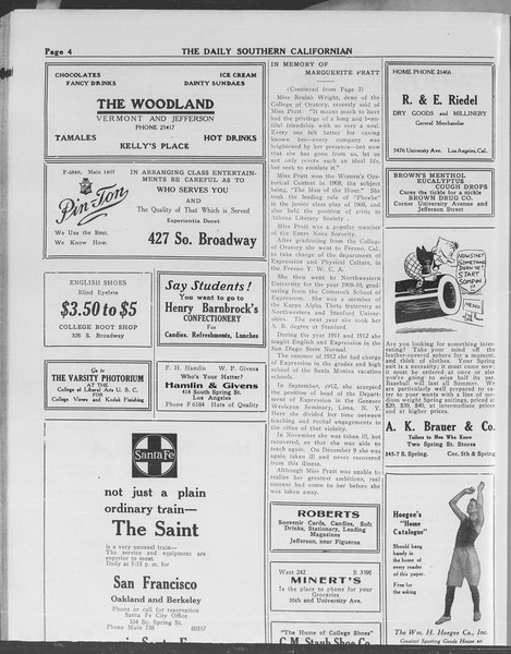 The Daily Southern Californian, Vol. 10, No. 45, May 09, 1913