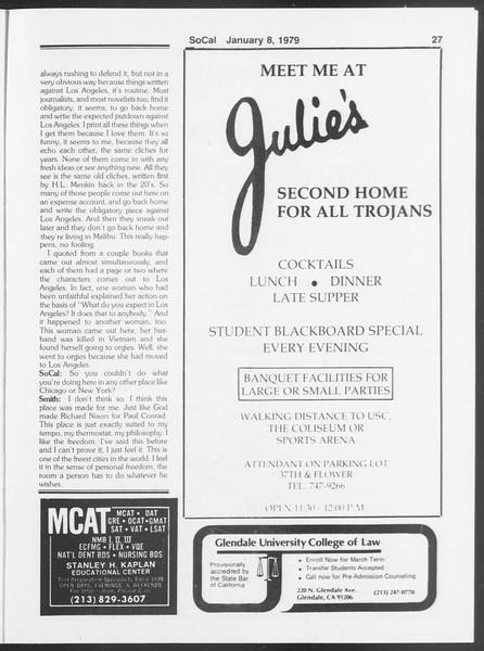 SoCal, Vol. 75, No. 58A, January 08, 1979