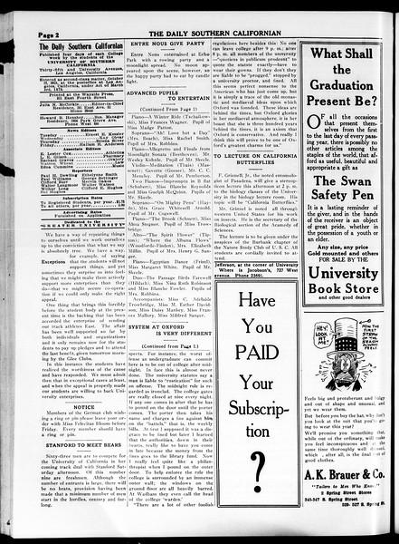 The Daily Southern Californian, Vol. 4, No. 34, April 16, 1914