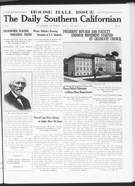 The Daily Southern Californian, Vol. 5, No. 45, December 11, 1914