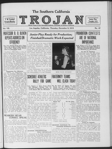 The Southern California Trojan, Vol. 7, No. 47, December 09, 1915