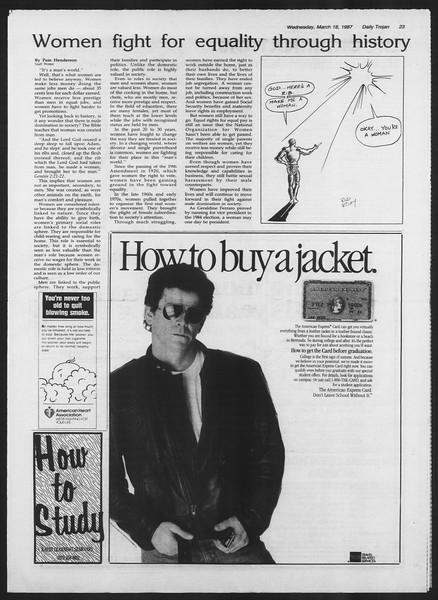 Daily Trojan, Vol. 103, No. 45, March 18, 1987