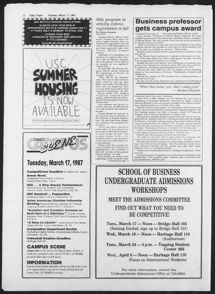 Daily Trojan, Vol. 103, No. 44, March 17, 1987