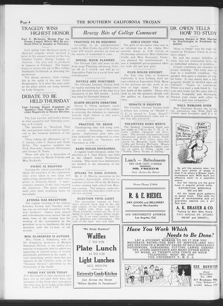 The Southern California Trojan, Vol. 7, No. 25, October 28, 1915