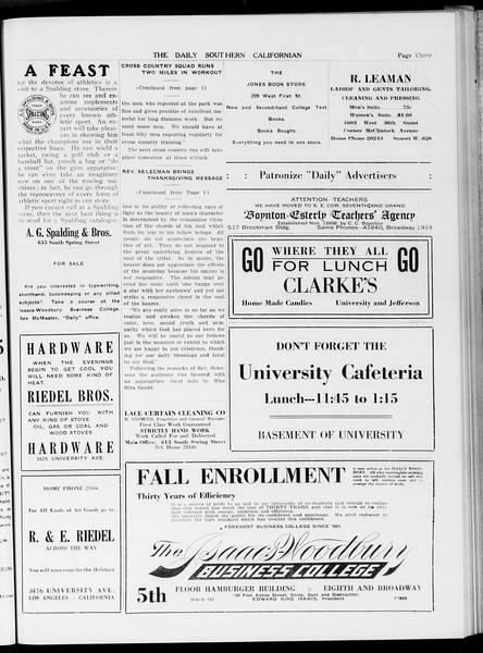 The Daily Southern Californian, Vol. 5, No. 40, November 25, 1914
