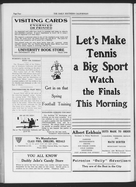 The Daily Southern Californian, Vol. 6, No. 20, April 23, 1915