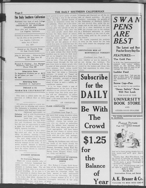 The Daily Southern Californian, Vol. 3, No. 48, December 05, 1913
