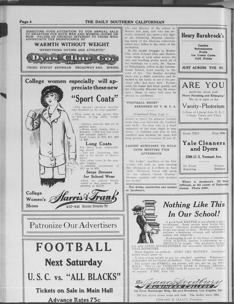 The Daily Southern Californian, Vol. 3, No. 34, November 07, 1913
