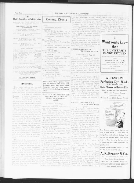 The Daily Southern Californian, Vol. 6, No. 9, March 09, 1915