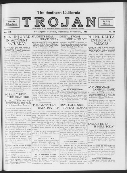 The Southern California Trojan, Vol. 7, No. 28, November 03, 1915