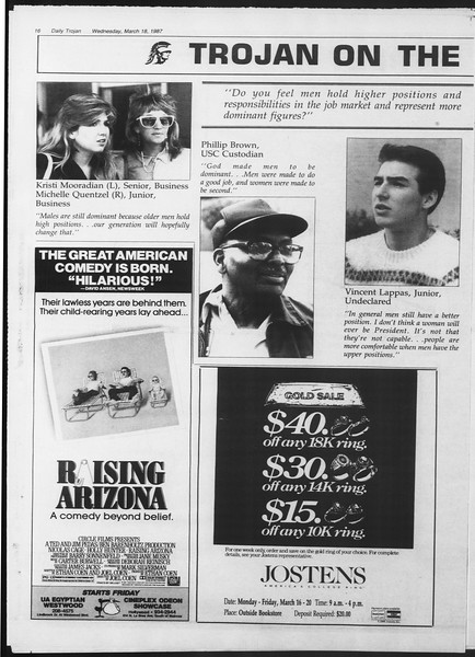 Daily Trojan, Vol. 103, No. 45, March 18, 1987