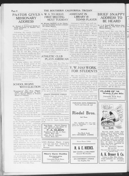 The Southern California Trojan, Vol. 7, No. 6, September 24, 1915