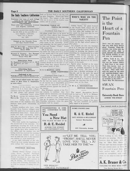 The Daily Southern Californian, Vol. 3, No. 39, November 18, 1913