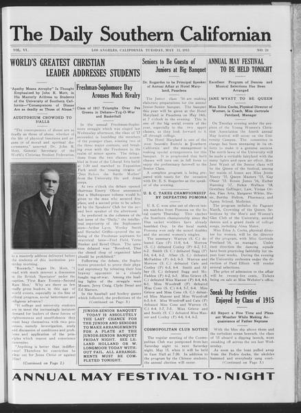 The Daily Southern Californian, Vol. 6, No. 24, May 11, 1915
