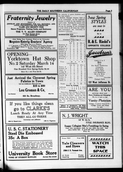 The Daily Southern Californian, Vol. 4, No. 17, March 10, 1914