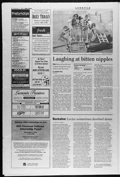 Daily Trojan, Vol. 147, No. 48, November 01, 2002