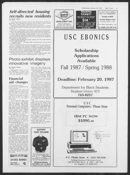 Daily Trojan, Vol. 103, No. 12, January 28, 1987