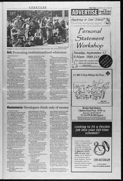 Daily Trojan, Vol. 147, No. 14, September 16, 2002