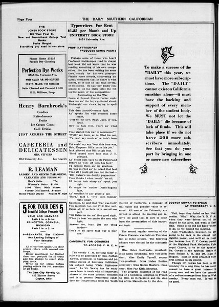 The Daily Southern Californian, Vol. 5, No. 21, October 21, 1914