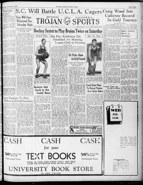 Daily Trojan, Vol. 25, No. 76, February 01, 1934