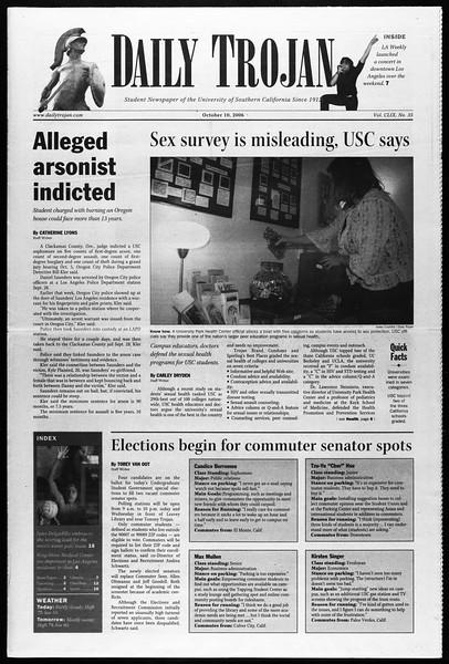 Daily Trojan, Vol. 159, No. 35, October 10, 2006