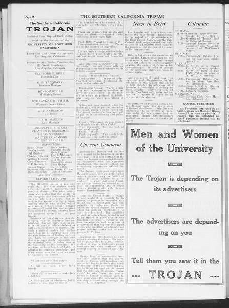 The Southern California Trojan, Vol. 7, No. 6, September 24, 1915
