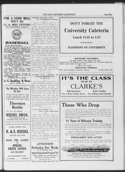 The Daily Southern Californian, Vol. 6, No. 22, April 30, 1915